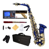 Saxofon Alto Azul Mendini Con Funda Y Accesorios (xmp (islw)