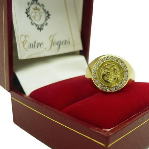 0d29672e41f9 Anillos Oro Mujer Hombre 18k Sello Oro Con Luna Y Estrella en venta ...