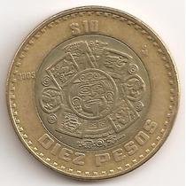 Mexico, 10 Pesos, 2005. Bimetalica. Casi Sin Circular