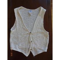 Chaleco De Hilo A Crochet Importado Botones De Madera