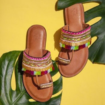 Sandalia Mujer Ojotas Cuero!! India Hindu