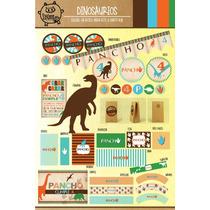 Kit Imprimible Personalizado Dinosaurios Candy Bar Y Deco!