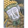 Deco Indonesia- Cuadro Buda, Talla En Madera, 50 Cm
