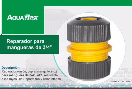 Reparador Union Para Manguera De 3/4 Pulgada  H3031 Aquaflex