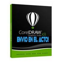 Corel Draw  X8 Diseño 2019 + Vectores + Fuentes + Envio Ya!