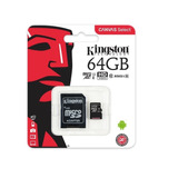 Memoria Micro Sd Xc 64gb Kingston Clase 10 80mb/s Tribunales