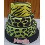 Torta 15 Años Animal Print