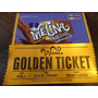 Invitaciones Willy Wonka Ticket Dorado Mas Envoltorio