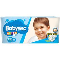 Pañales Babysec Ultrasec Xxg + De 13 Kg X34 U.