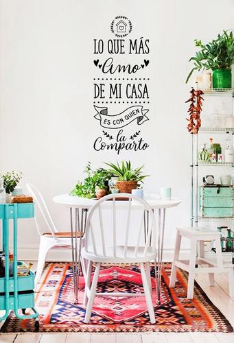 Vinilos Decorativos Hogar Deco Familia Casa Frases Adhesivos