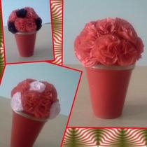 Maceta Ideal Centro De Mesa - Souvenirs Con Flores De Papel