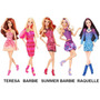 Barbie - Fashionistas - Barbie / Teresa / Raquelle / Summer