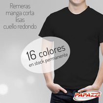 Remeras Algodon Lisas Adulto Por Mayor Talles Reales !!
