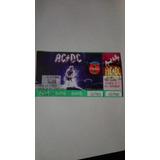 Ac/dc -estadio River Plate 19/10/96 Entradas Antiguas Retro