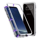 Funda Metalica Magnetica Vidrio Samsung Note S8 S9 S10e Plus