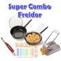 Conjunto Freidor Enlozado + Cortapapas + Pelapapas - Sarten