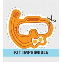 Kit Imprimible Marino Cumple Souvenirs Invitacion Golosina