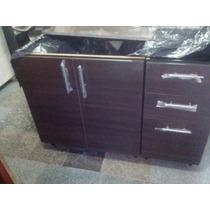 Mueble Melamina Para Mesada De 1,20 Cajonero+puertas