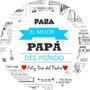 Stickers-etiquetas 70 Personalizados Día Del Padre.