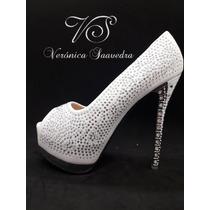 Zapatos Mujer Blanco Novia Fiestas
