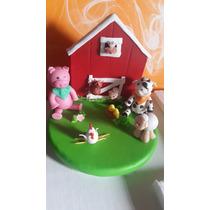 Granja En Porcelana Fría Con Animalitos