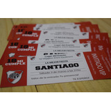 Invitaciones River Plate X 45 Unidades