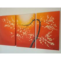Cuadros Florales Triptico Modernos Grupo Raiim