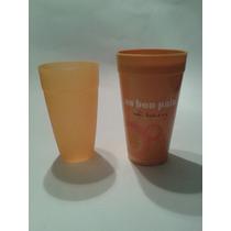 2 Pares De Vasos, Naranja Coral, Plastico, Usar Microhondas
