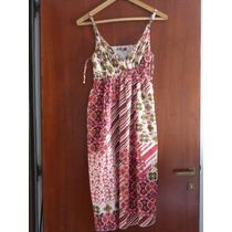 Vestido Solera Informal Algodon Estampado Forrado Talle M