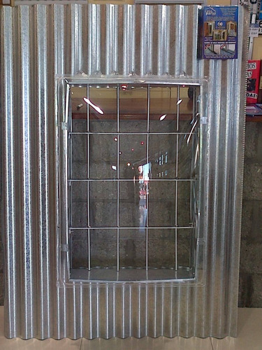 Claraboya chapa para galvanizada 60 x 40 con reja - Precio chapa ondulada galvanizada ...