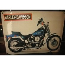 Harley Davidnson Cartel Chapa No Enlozado 43 X 30 Harley Dav