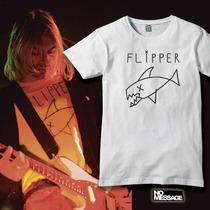 Remera Unisex Estampada Kurt Cobain Flipper Rock Música