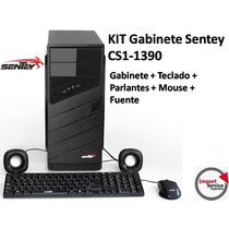 Kit Gabinete Sentey Cs1-1390 +teclado+parlantes+mouse+fuente
