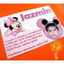 Minnie Mickey Mouse Minni Invitaciones Tarjetas Cumpleaños