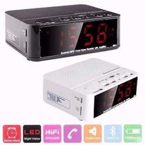 Reloj Despertador Bluetooth Bateria Alarma Fm - A Bateria