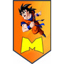 Banderines Personalizados Mesa Dulce Dragon Ball Pokemon