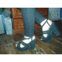 Zapatosnegros De Mujer Con Tacos Altos
