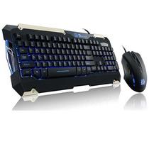 Kit Teclado Mouse Retroiluminado Gamer Thermaltake Commander