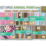 1 Kit Imprimible X 6 Set Animal Print P/ Decoracion Cuartos