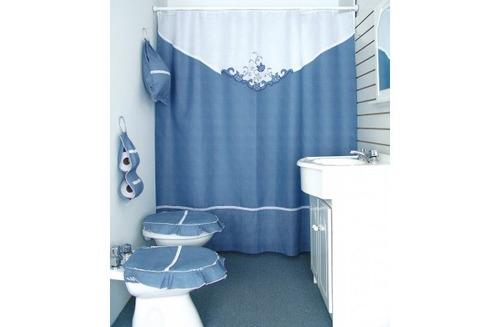 Cortinas De Baño Artesanales:jean cartier cortina artesanal c aplique bordado diseño linea baño