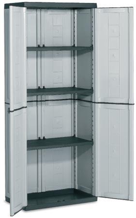 Armario plastico 3 est deposito keter ideal exterior en for Muebles de oficina olivos