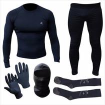Equipo Termico Remera+calza+guantes+balaclava+medias Fdn
