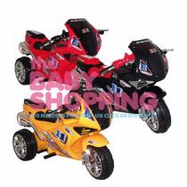 Moto Carrera A Bateria Triciclo Infantil 6 V Musica Luces