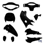 Kit Plasticos Gilera Smash 110 Negro 10pzas Brillante Mg