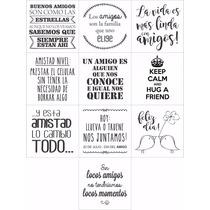 Dia Del Amigo 35 Mini Vinilos Frases - Amistad -