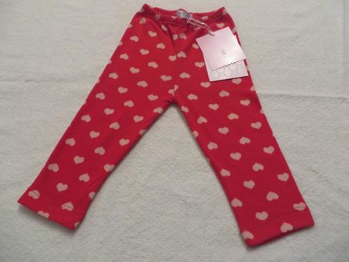 Calzas De Lanilla Estampadas Para Bebé Con Corazones fa411f6dc6cc