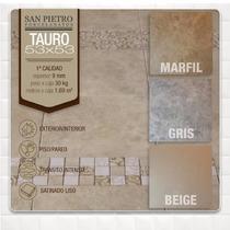 Porcelanato Tauro 53x53 Gris Beige Marfil La Plata. Oferta