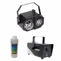 Efecto Madbox 3 En 1 + Maquina De Humo + Liquido Luces