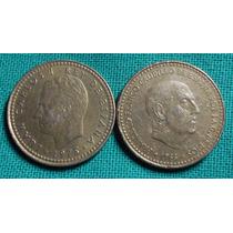España 1 Peseta 1966 Y 1975 - Dos Reyes
