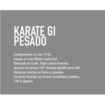 Karate - Gi Blanco Pesado Lona 15oz Talle 8 - 9